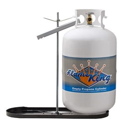 Flame King Dual RV Propane Tank Cylinder Rack For RVs and Trailers for 20lb Tanks (Tanks not included)