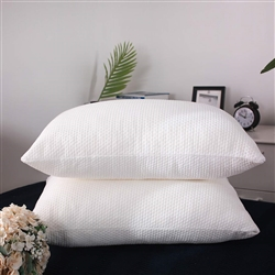 Oaskys Bamboo Bed Pillow with Zipper Removable Case- 1 Pillow