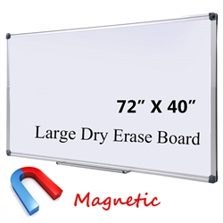 "DexBoard Large 72 x 40-in Magnetic Dry Erase Board with Pen Tray (72"" x 40"")"