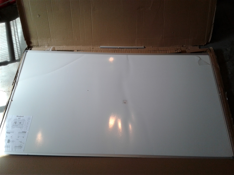 DexBoard Large 72 x 40-in Magnetic Dry Erase Board with Pen Tray (72 x 40)
