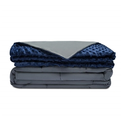 Quility 20 LB Weighted Blanket with Removable Minky Cover 60x80