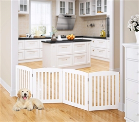"Universe Home Inc Wooden Pet Gate with Support Feet 24"" High"