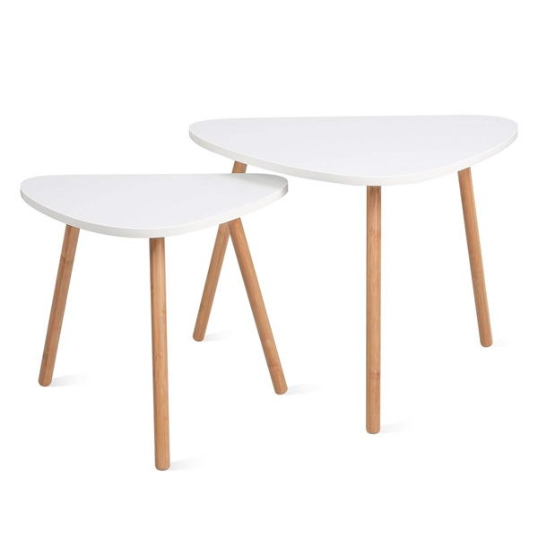 HOMFA Nesting Coffee End Tables Modern Furniture Decor Set of 2