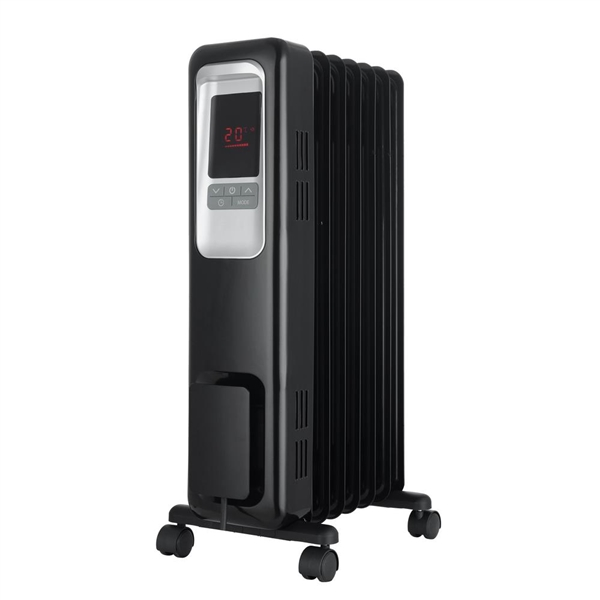 Pelonis 1,500-Watt Digital Electric Oil-Filled Radiant Portable Space Heater
