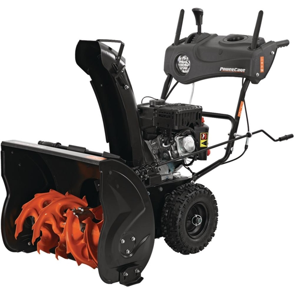 PowerCare 24 in. Two-Stage Gas Snow Blower with Electric Start and Headlight
