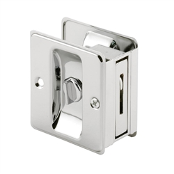 Prime-Line Polished Chrome, Pocket Door Privacy Lock