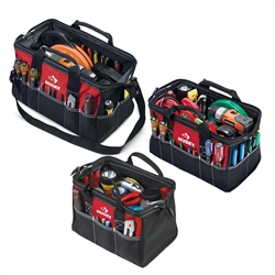 Husky 18 in., 15 in. and 12 in. Tool Bag Combo in Red