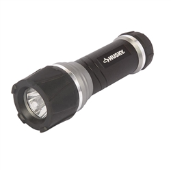Husky 200 Lumens Aluminum Virtually Unbreakable Flashlight