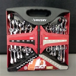 Husky SAE/MM Combination Wrench Set 28 Piece