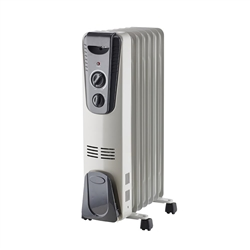 1500-Watt Electric Oil-Filled Radiant Portable Heater Black