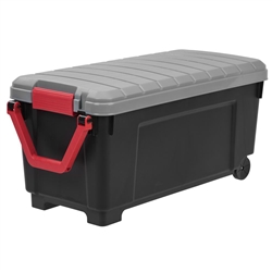 IRIS 169 Qt. Store-It-All Storage Bin in Black