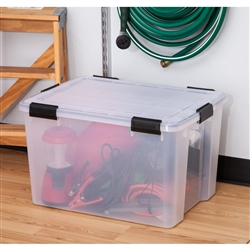 IRIS 74 Qt. Weather Tight Storage Box in Clear