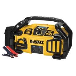 DEWALT 2800 Peak Amp Jump Starter 1000-Watt Power Inverter with Digital Compressor