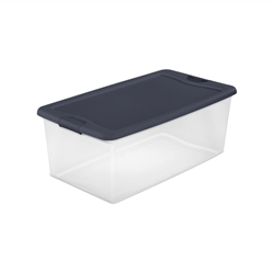 3 Pack Sterilite 106 Qt. Latching Storage Box Tan