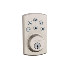 Kwikset Powerbolt2 Satin Nickel Single Cylinder Electronic Deadbolt Featuring SmartKey Security