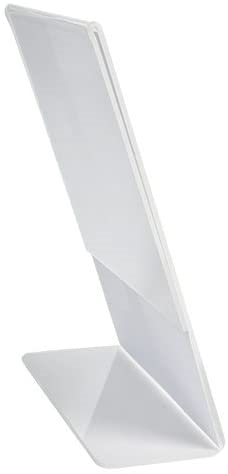 Clear-Ad - Acrylic Table Top Slanted Sign Holder Stand 11x17 - Vertical Tabletop Standing Menu Display - Plastic Photo Frames