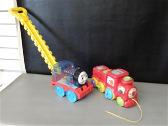 VTech Roll and Surprise Animal Train and Thomas Train Push Pop Toy