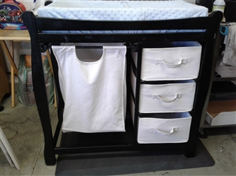 Changing Table with Hamper and Storage