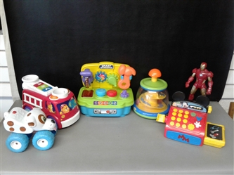 Toddler Toy Lot- Workshop, Mickey Cash Register and more