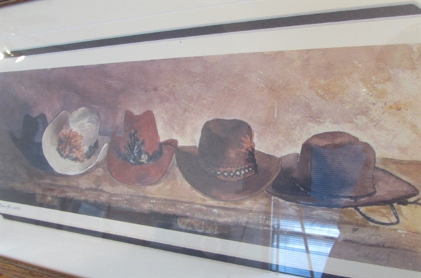COWBOY HATS & BOOTS WATERCOLOR PRINTS BY KAREN RAE