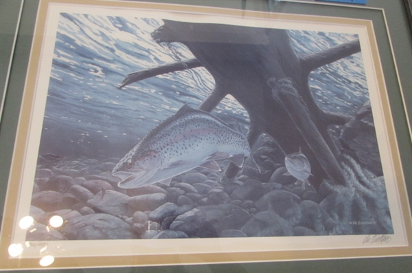 LIMITED EDITION-SIGNED & NUMBERED TROUT ART PRINT BY VIC ERICKSON
