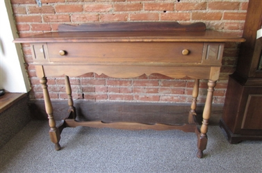 ANTIQUE HALL TABLE W/DRAWER