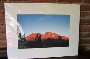 LARGE MATTED PHOTO OF MT. SHASTA BY JIM GREGG