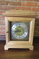HAND CRAFTED BRACKET CLOCK - WESTMINSTER CHIME-QUARTZ MOVEMENT (10)
