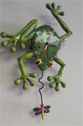 FROG-FLY WALL CLOCK - NEW/DISPLAY (35)