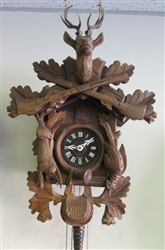 WEST GERMANY CUCKOO CLOCK FOR PARTS/REPAIR
