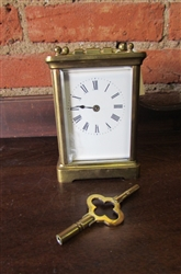 ANTIQUE CIRCA 1814 FRENCH CARRIAGE CLOCK (107)