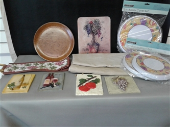 Burner Covers, Tablecloth, Wine Bag, Glass Cutting Board, and more