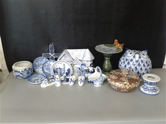 Collection of Blue and White Ceramics
