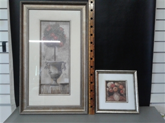 Two Silver Framed Paintings