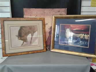 3 Large Horse Paintings