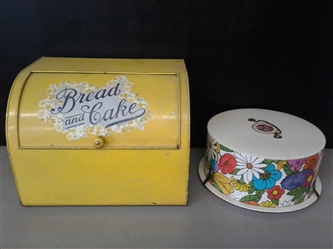 Bread Box and Cake Holder