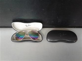 Foster Grant Sunglasses and Ray Ban Cases