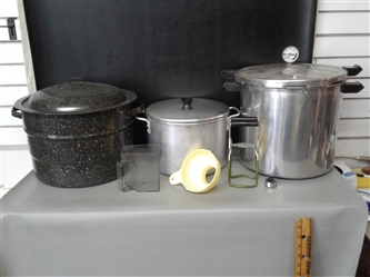 Canning Pot, Pressure cooker, Cooking Pot and canning tools