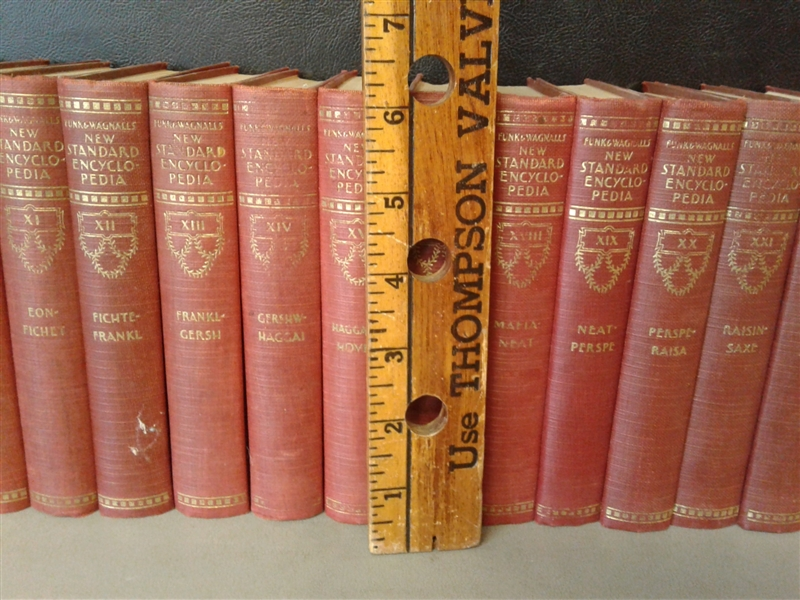 1931 New Standard Encyclopedia of Universal Knowledge Volumes I-XXV