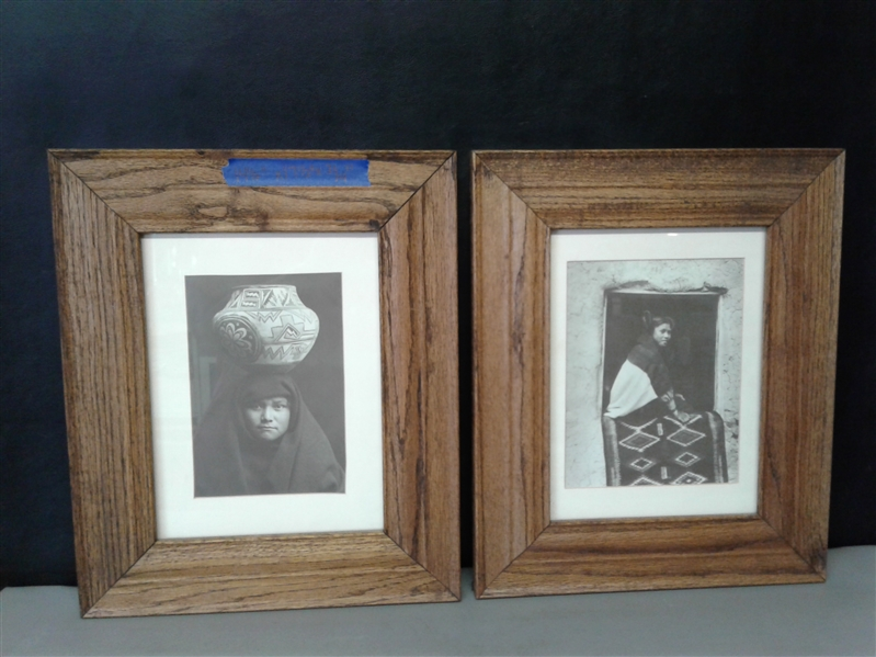 Pair of Matted and Framed Native American Portraits
