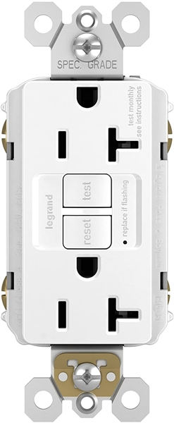 Legrand Radiant Self-Test GFCI Outlet