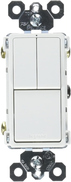 Legrand radiant Combination Switches, Rocker Wall Light Switch 3-Way Switch