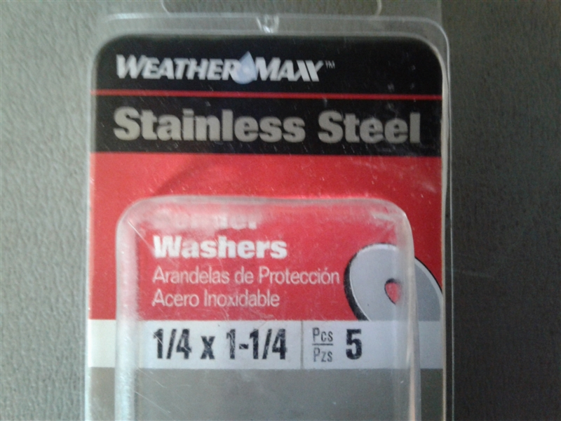 Weather Max SS Fender Washer 1/4 x 1 1/4