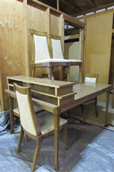 VINTAGE LAMINATE DINING TABLE W/6 CHAIRS