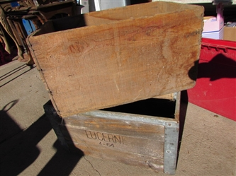 LUCERNE WOODEN CRATE LOT