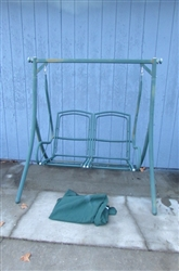 DOUBLE METAL PORCH SWING