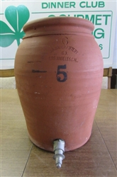 LARGE CLAY DISPENSER WITH SPIGOT