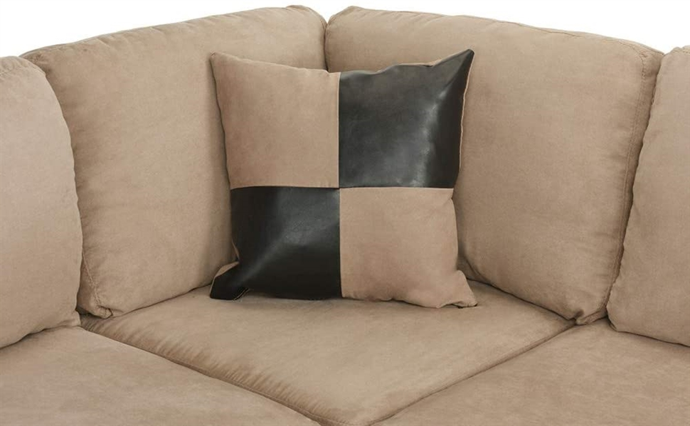 Casa Andrea Modern 3-Piece Microfiber and Faux Leather Sofa *CUSHIONS ONLY*