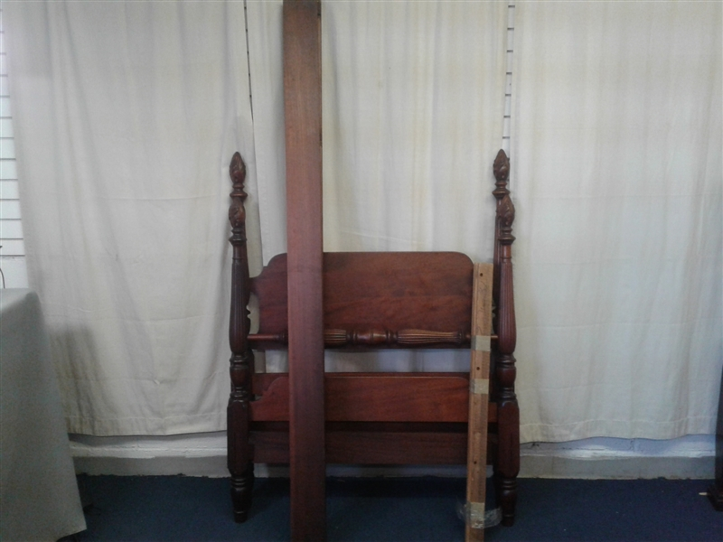 Mahogany Twin Bed Frame