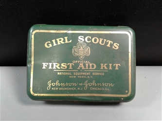 Vintage Girl Scouts First Aid Kit Tin